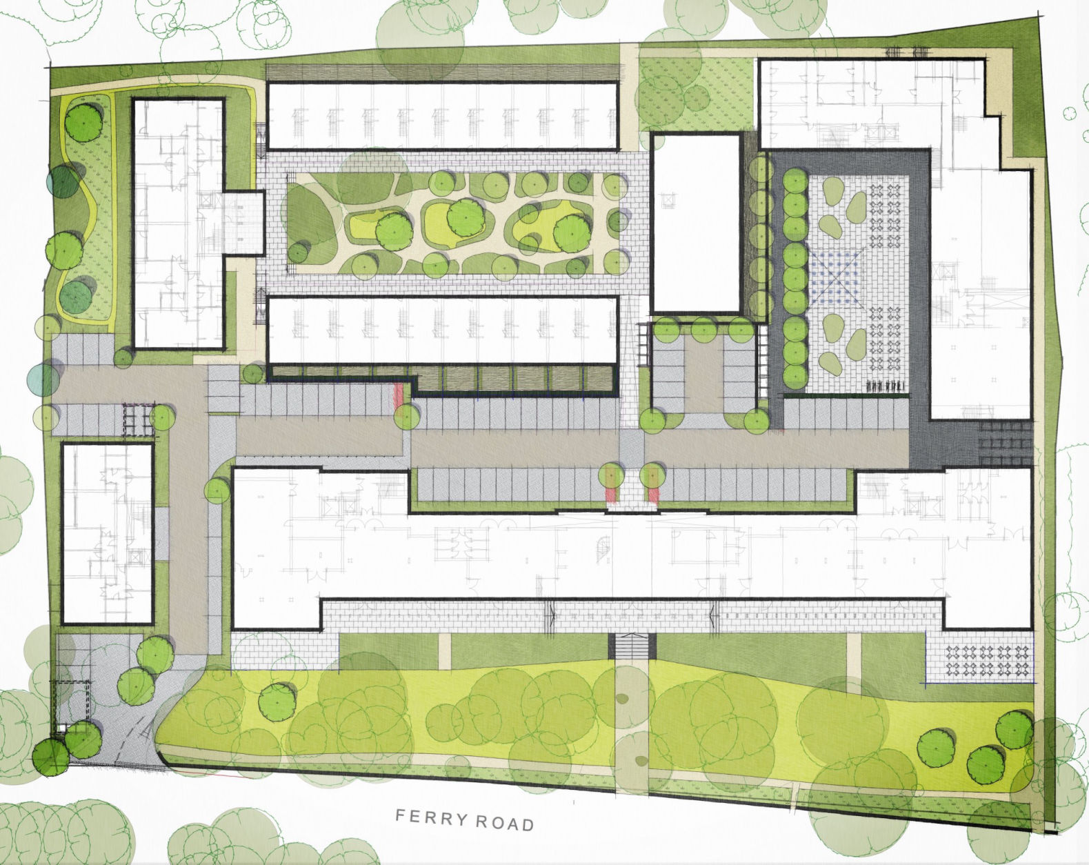 Knoll House Site Plan
